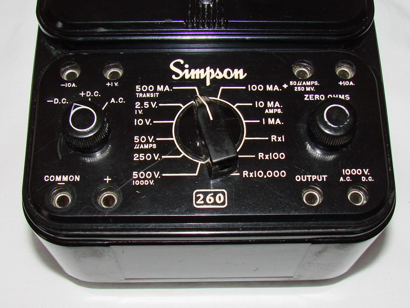 Simpson 260 Multimeter on simpson 260 ohm meter schematic