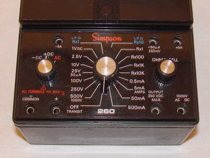 Simpson Ac Dc Clamp Meter : Simpson xlm volt ohm milliammeter