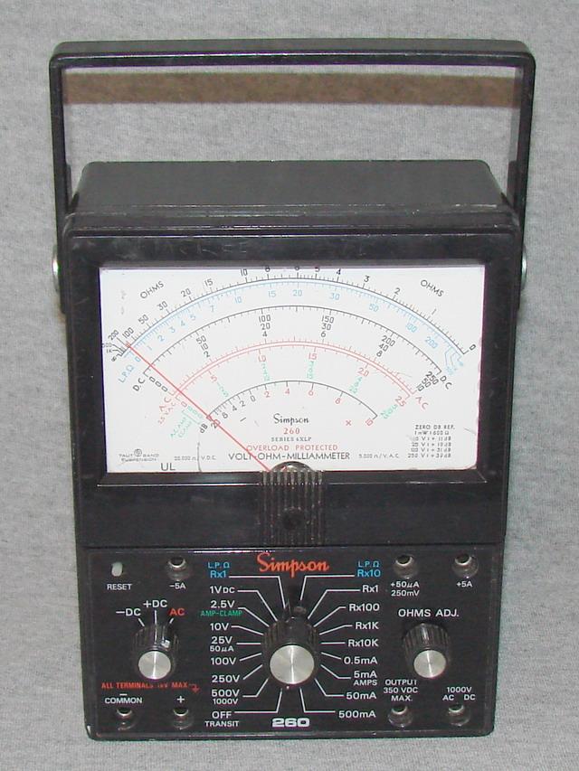 Simpson Ac Dc Clamp Meter : Simpson xlp volt ohm milliammeter