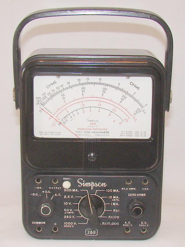 SIMPSON 260 SERIES 5 /& 5M Multimeter Operating Manual Schematics /& Parts List