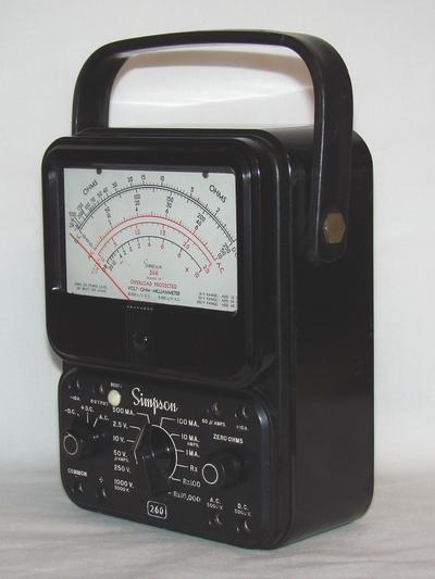 Simpson 2605P  Volt  Ohm  Milliammeter