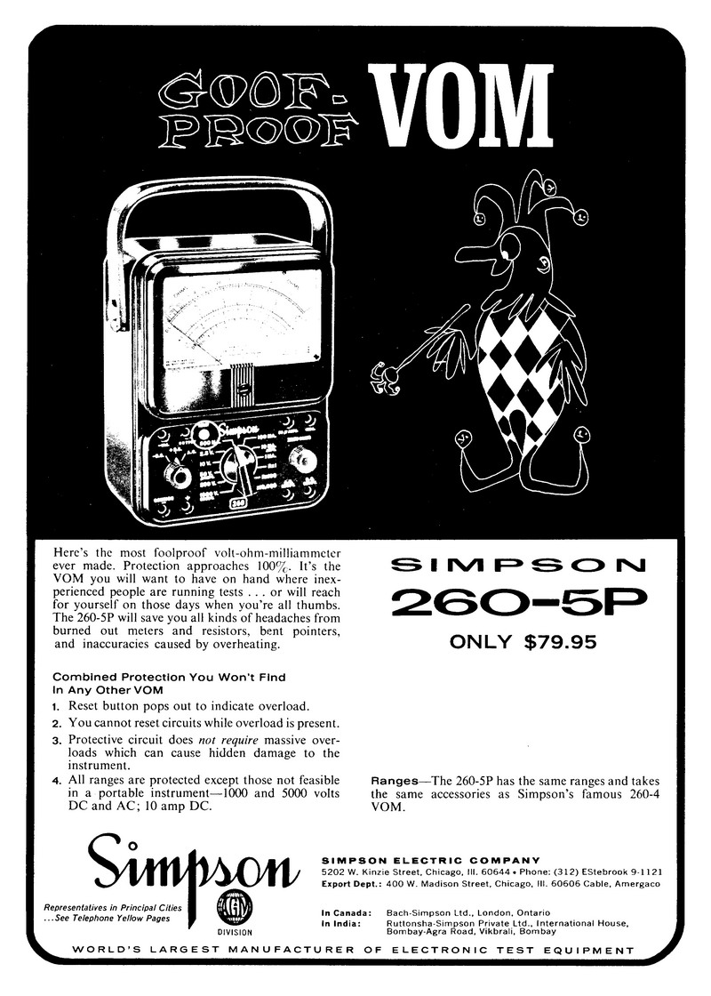 Simpson 260-5p - Volt - Ohm