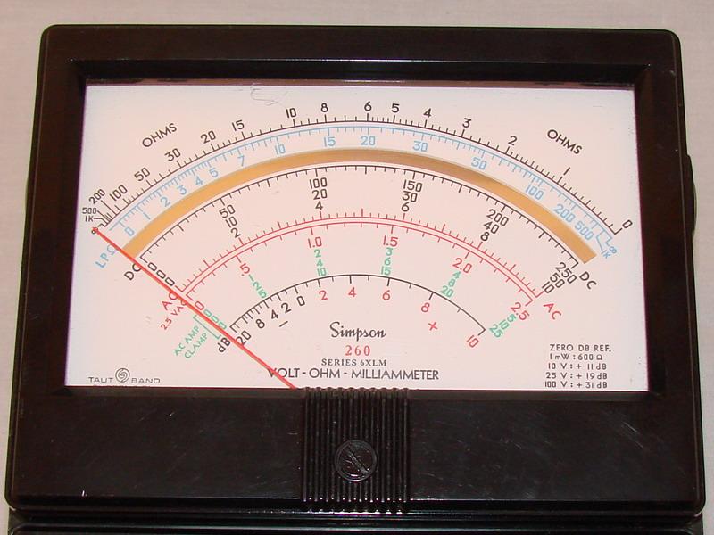 Clamp On Milliammeter : Simpson xlm volt ohm milliammeter