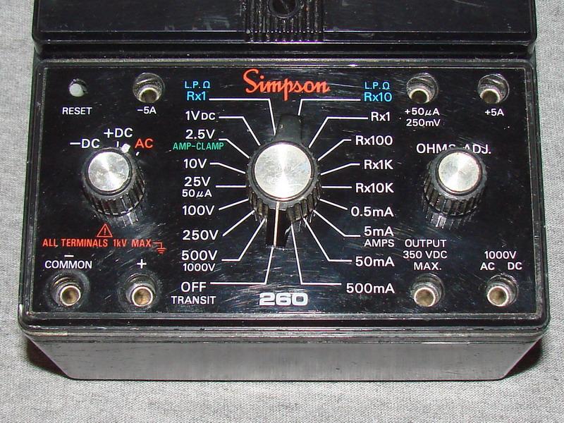 Clamp On Milliammeter : Simpson xlp volt ohm milliammeter