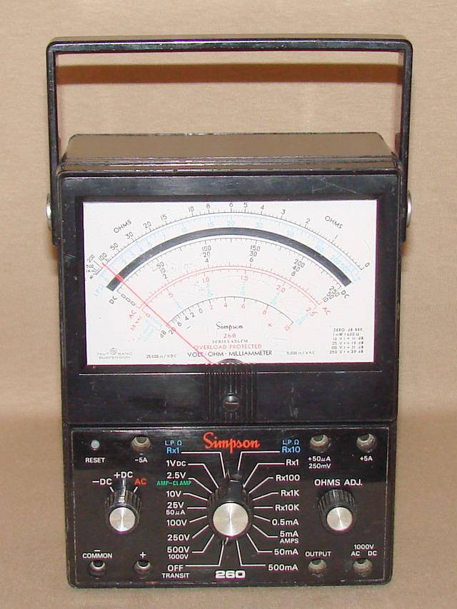 Simpson Ac Dc Clamp Meter : Simpson xlpm volt ohm milliammeter