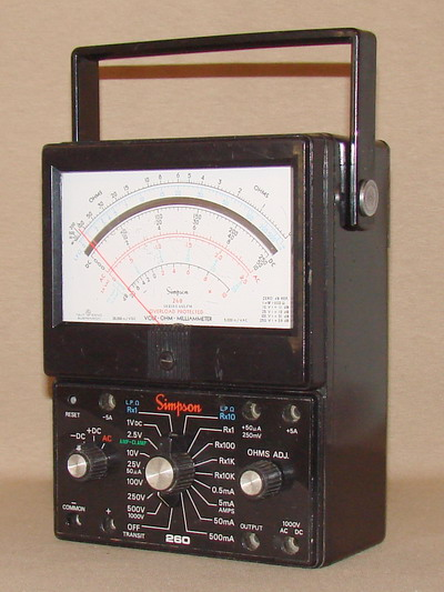 Clamp On Milliammeter : Simpson xlpm volt ohm milliammeter