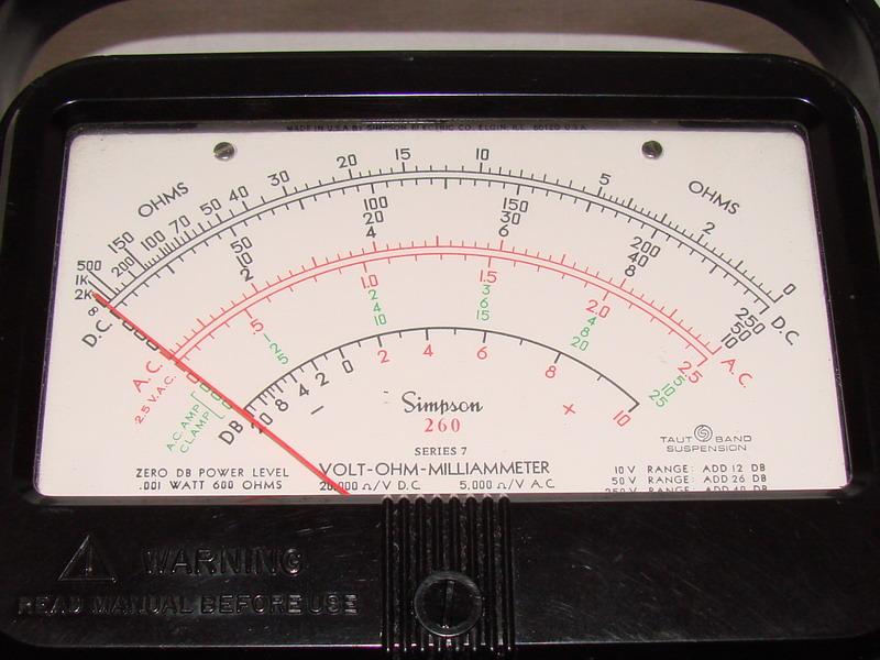 Simpson Ac Dc Clamp Meter : Simpson series volt ohm milliammeter
