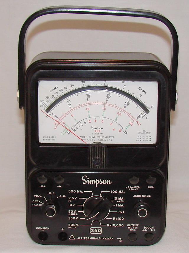 Simpson Ac Dc Clamp Meter : Simpson series m volt ohm milliammeter